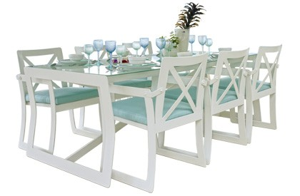 Lyon Quality Patio Furniture Outdoor Dining Table Set For 6 People