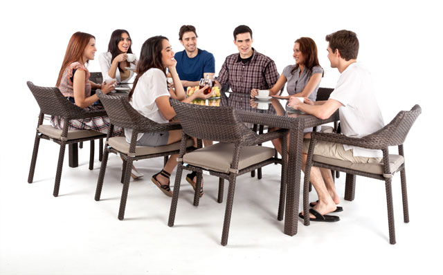 Table ciro 8 rectangulaire a diner 8 personnes - Table haute 8 personnes ...