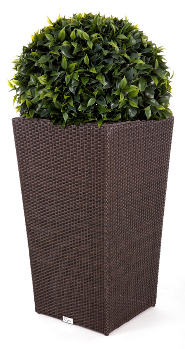 Tall Java Synthetic Wicker Flower Pot