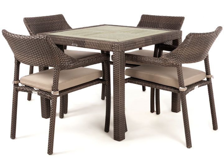 Outdoor dining table nico 4 with synthetic wood top Synthetic wood patio furniture