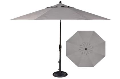 Patio umbrella grey patio umbrella for Restoration hardware outdoor umbrellas